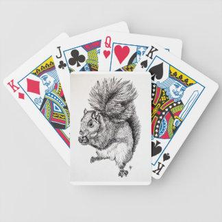 Squirrel Ink Illustration on Pack of Cards