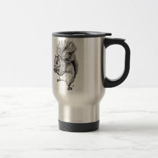 Squirrel Ink Illustration on Travel Mug