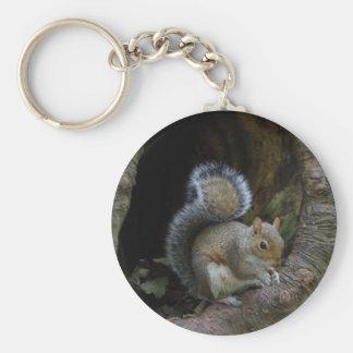 Squirrel Keyring Basic Round Button Keychain
