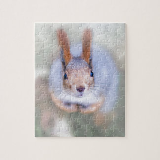 Squirrel looks at you from the bottom up jigsaw puzzle