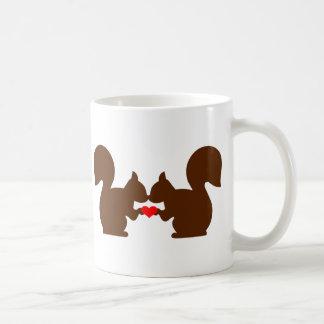 Squirrel love basic white mug