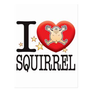 Squirrel Love Man Postcard