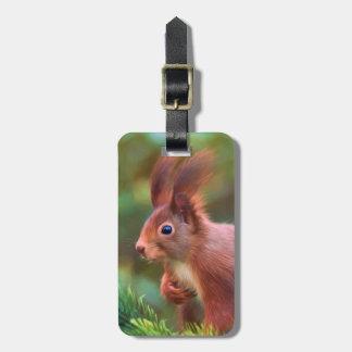 Squirrel Luggage Tag