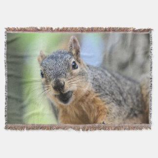 Squirrel magnet throw blanket