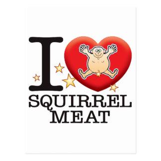 Squirrel Meat Love Man Postcard