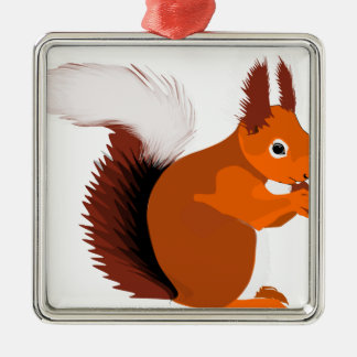 squirrel metal ornament