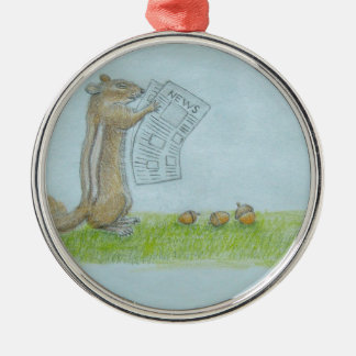 Squirrel Metal Ornament