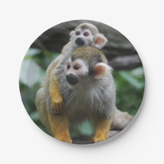 Squirrel Monkey 7 Inch Paper Plate