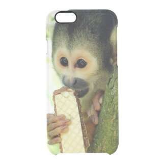 Squirrel Monkey Eating a Wafer Biscuit Clear iPhone 6/6S Case