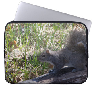 Squirrel on a Log Laptop Sleeve