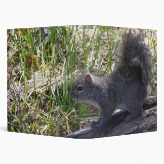 Squirrel on a Log Vinyl Binder