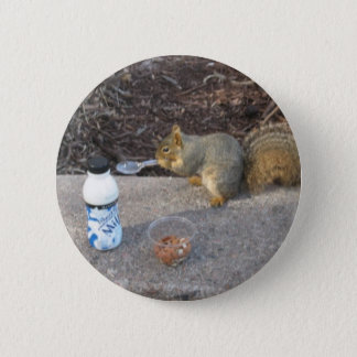 Squirrel on The Loose 2 Inch Round Button