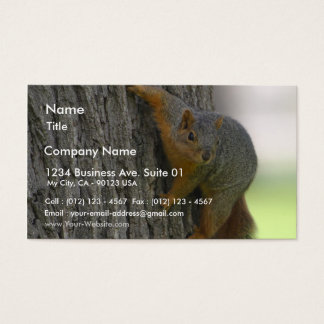 Squirrel On Tree Business Card