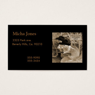 Squirrel Outlaws In The Old West Business Card
