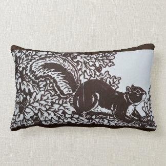 Squirrel Pillow Brown and White Tile Elegant Decor