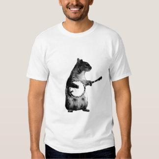 squirrel playing a banjo shirts