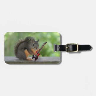 Squirrel Playing an Electric Guitar Luggage Tag