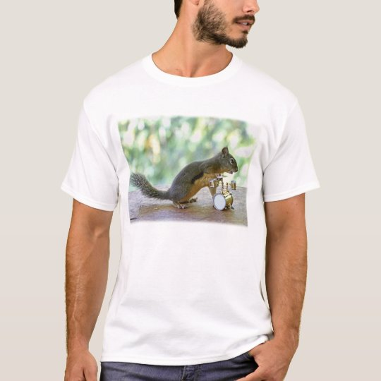 Squirrel Playing Drums T-Shirt