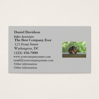 Squirrel Playing Electric Guitar Business Card