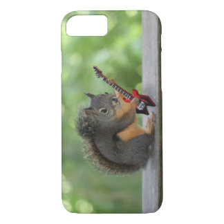 Squirrel Playing Electric Guitar iPhone 7 Case