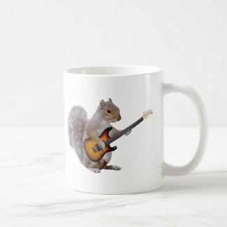 Squirrel Playing Guitar Basic White Mug