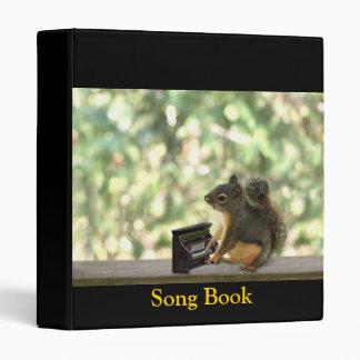 Squirrel Playing Piano Vinyl Binder