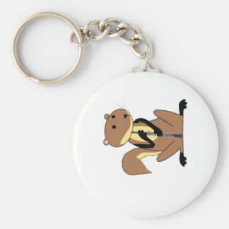 Squirrel Playing the Oboe Keychain