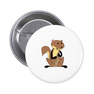 Squirrel Playing the Saxophone Button