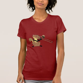 Squirrel Playing the Trombone Tee Shirt