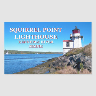 Squirrel Point Lighthouse, Maine Stickers