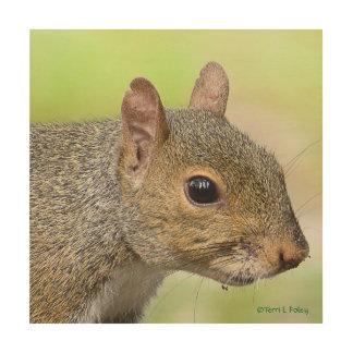 Squirrel Profile Wood Artwork Wood Print