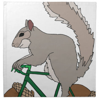 Squirrel Riding Bike With Acorn Wheels Napkin