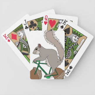 Squirrel Riding Bike With Acorn Wheels Poker Deck