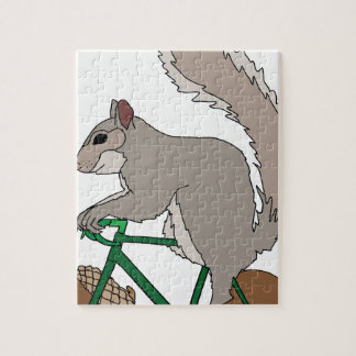 Squirrel Riding Bike With Acorn Wheels Puzzle