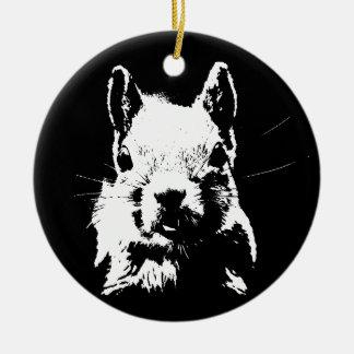 Squirrel Round Ceramic Ornament