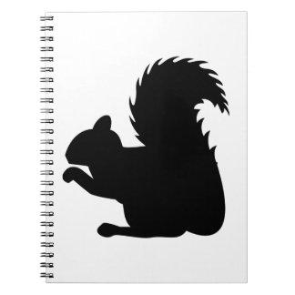Squirrel Silhouette Notebook