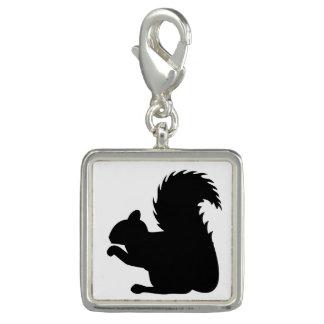 Squirrel Silhouette Photo Charm