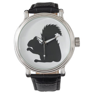Squirrel Silhouette Watch