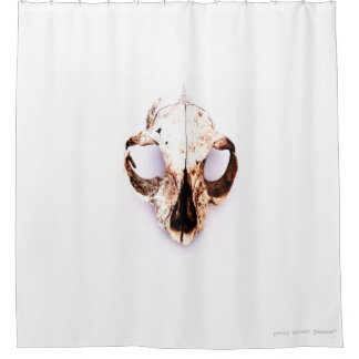 SQUIRREL SKULL shower curtain