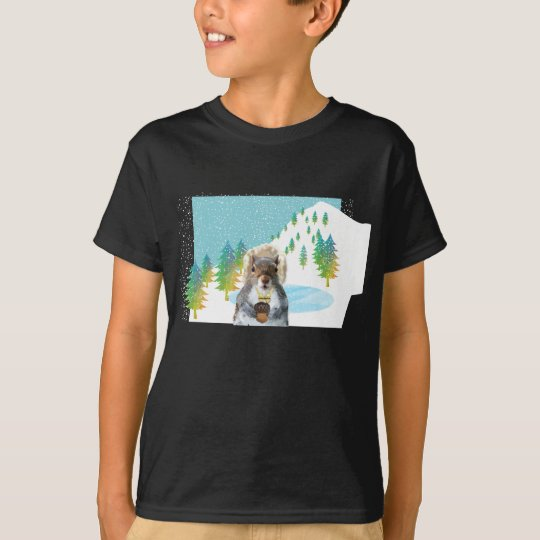 Squirrel Snowboarder T-Shirt