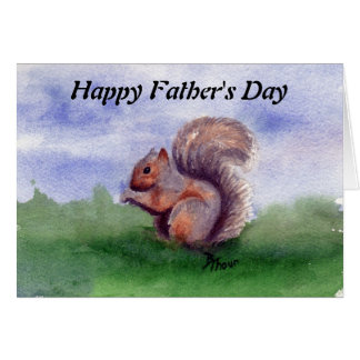 Squirrel Study Father's Day Card