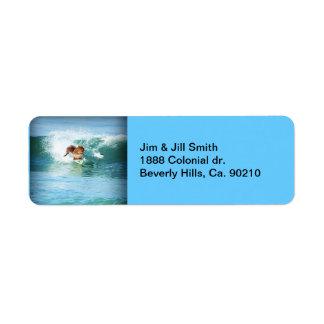 Squirrel Surfer On The Sea Return Address Label