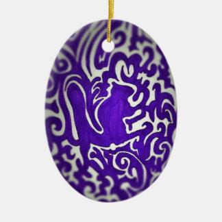 Squirrel Swirl (2) Ceramic Ornament