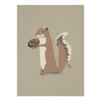 Squirrel Thank You Note Card