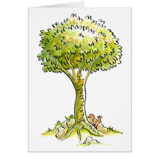 Squirrel Tree Greeting Card - 03
