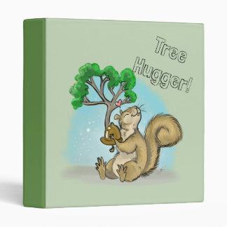 Squirrel Tree Hugger Vinyl Binder