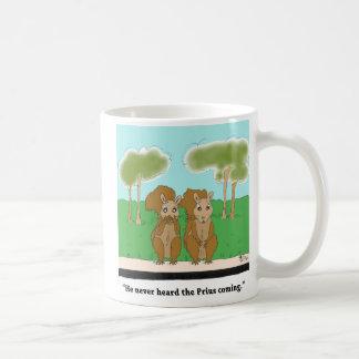 Squirrel vs. Prius Coffee Mug