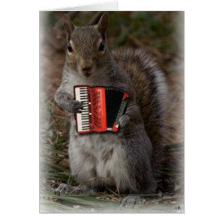 Squirrel w/an Accordion Card