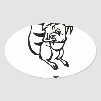Squirrel Whisperer Oval Sticker