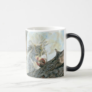 Squirrel with Apple Morphing Mug